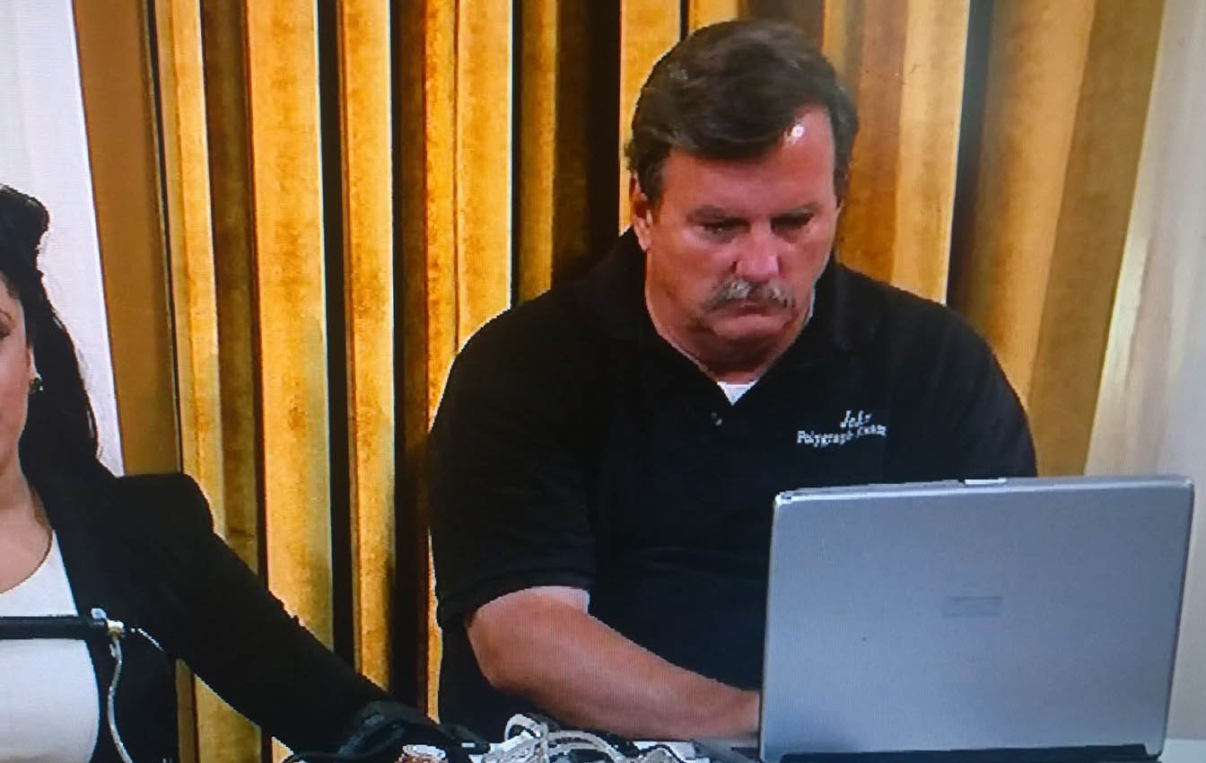 See a Los Angeles polygraph test conducted live by John Grogan polygraph