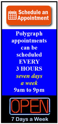 schedule a polygraph test in Los Angeles